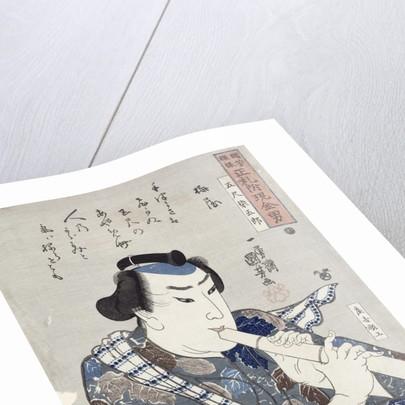 Man Playing a Flute by Utagawa Kuniyoshi