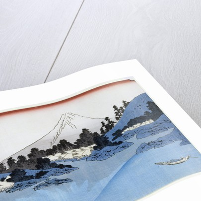 Mount Fuji Reflected in Lake Misaica, from the series '36 Views of Mount Fuji' by Katsushika Hokusai