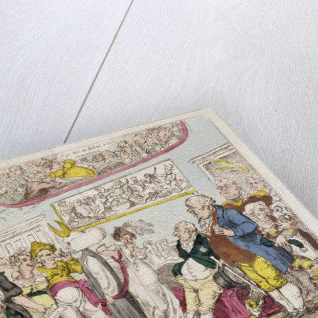 Princely Predilections or, Ancient Music and Modern Discord, 1812 by George Cruikshank