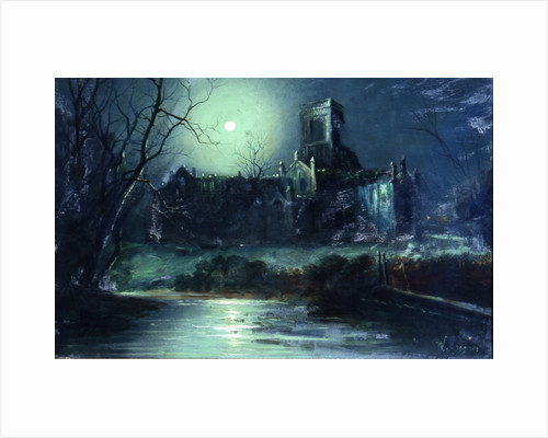 Kirkstall Abbey, by moon light by W. Meegan