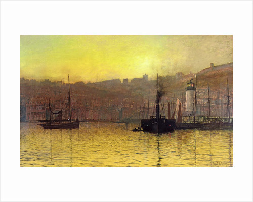 Nightfall in Scarborough Harbour, 1884 by John Atkinson Grimshaw