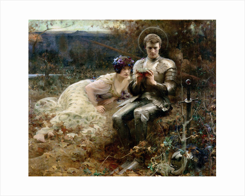 The Temptation of Sir Percival, 1894 by Arthur Hacker