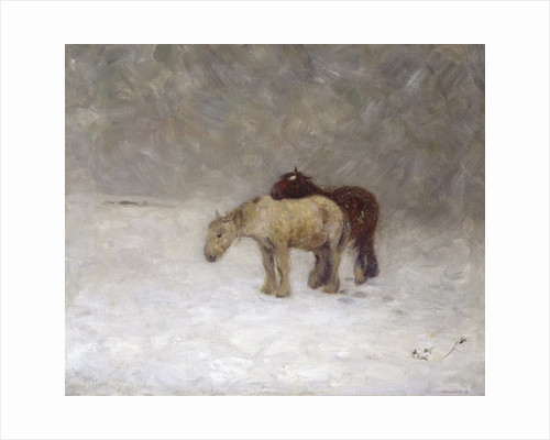 A Snow Storm, c.1891 by Edward Stott