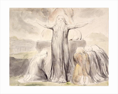 Job's Sacrifice: And my servant Job shall pray for you by William Blake