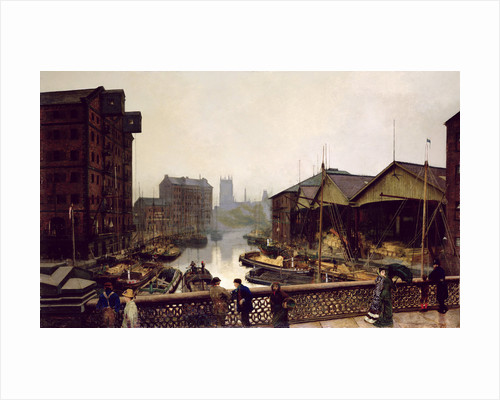 Leeds Bridge, 1880 by John Atkinson Grimshaw