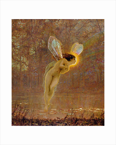 Iris, detail of the fairy, 1886 by John Atkinson Grimshaw