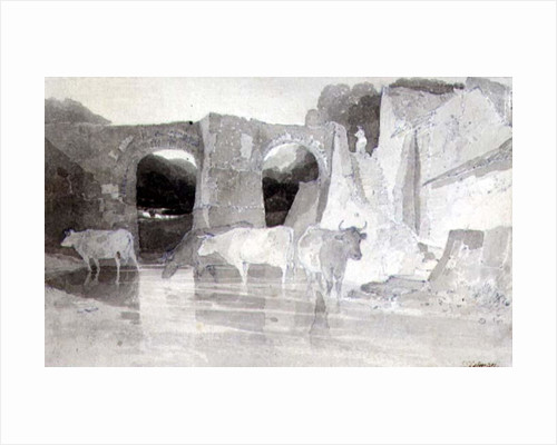 Cattle in a River by John Sell Cotman