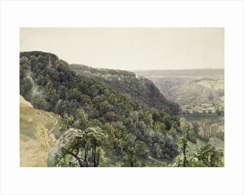 Rievaulx Abbey from the West by William Henry Bartlett