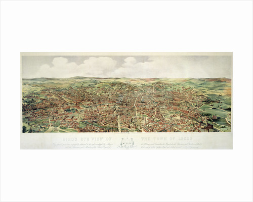 Bird's-Eye View of Leeds, pub. by Frank Pettingell and Brownlow T. Thompson, c.1880 by English School