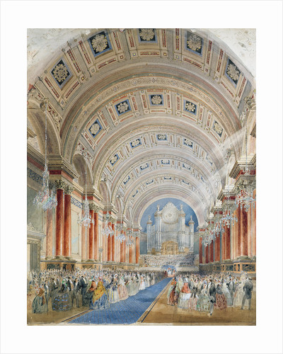 Interior Perspective, Leeds Town Hall, 1854 by Cuthbert Brodrick