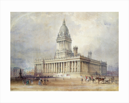 Design for Leeds Town Hall, 1854 by Cuthbert Brodrick
