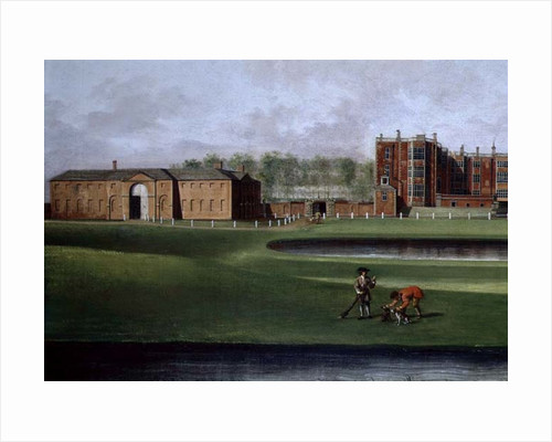 View of Temple Newsam House, detail of the riding school, c.1750 by James Chapman