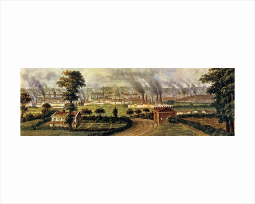 Leeds from Rope Hill, c.1840 by Alphonse Douseau