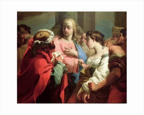 Christ and the Woman Taken in Adultery by Gaetano Gandolfi