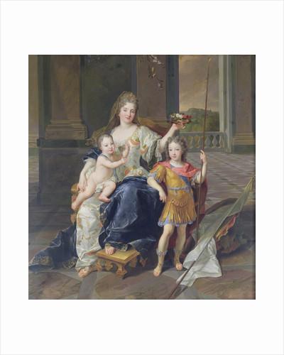Duchess de la Ferte with the Duke of Brittany and the Duke of Anjou by Francois de Troy