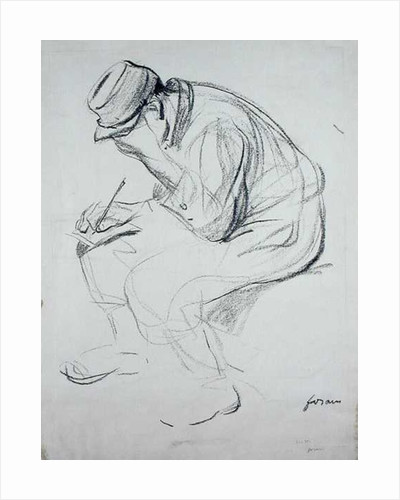 Soldier Writing by Jean Louis Forain