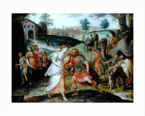 Eliezer and Rebecca at the Well, c.1580 by Flemish School