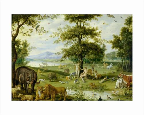 Adam and Eve in the Garden of Eden, c.1600 by Jan Brueghel