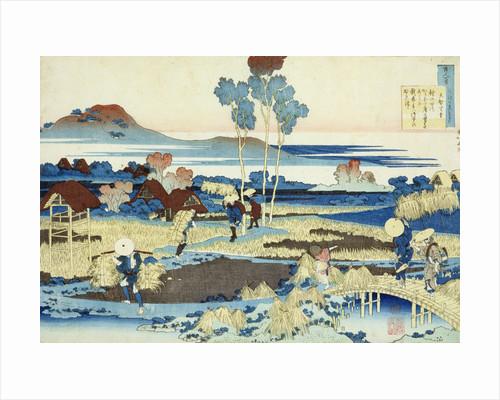 Harvesters at Work by Katsushika Hokusai