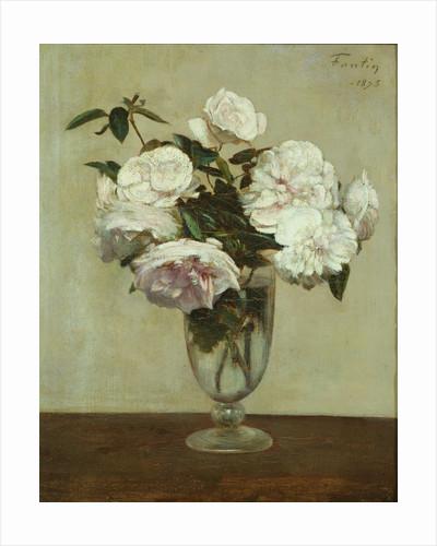 Pink Roses, 1875 by Ignace Henri Jean Fantin-Latour