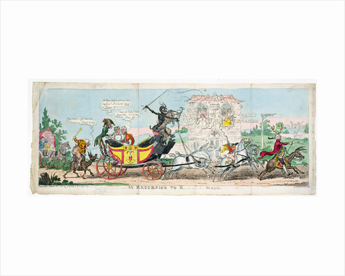 An Excursion into R.... Hall, 1812 by George Cruikshank