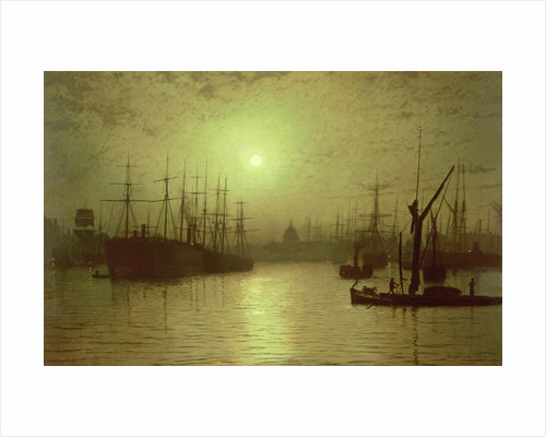 Nightfall Down the Thames, 1880 by John Atkinson Grimshaw