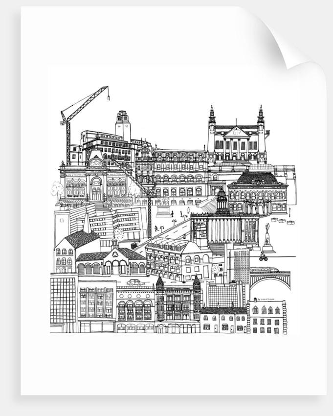Leeds Cityscape by Lizzie Prestt