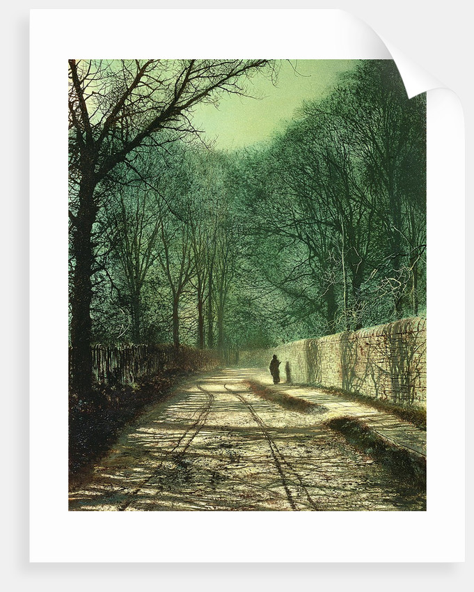 Tree Shadows in the Park Wall, Roundhay, Leeds, 1872 by John Atkinson Grimshaw