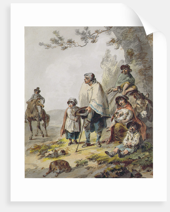 A Gypsy Family by Julius Caesar Ibbetson