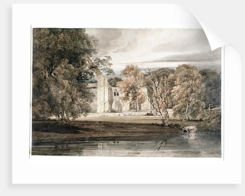 Bolton Abbey, 1800 by Thomas Girtin