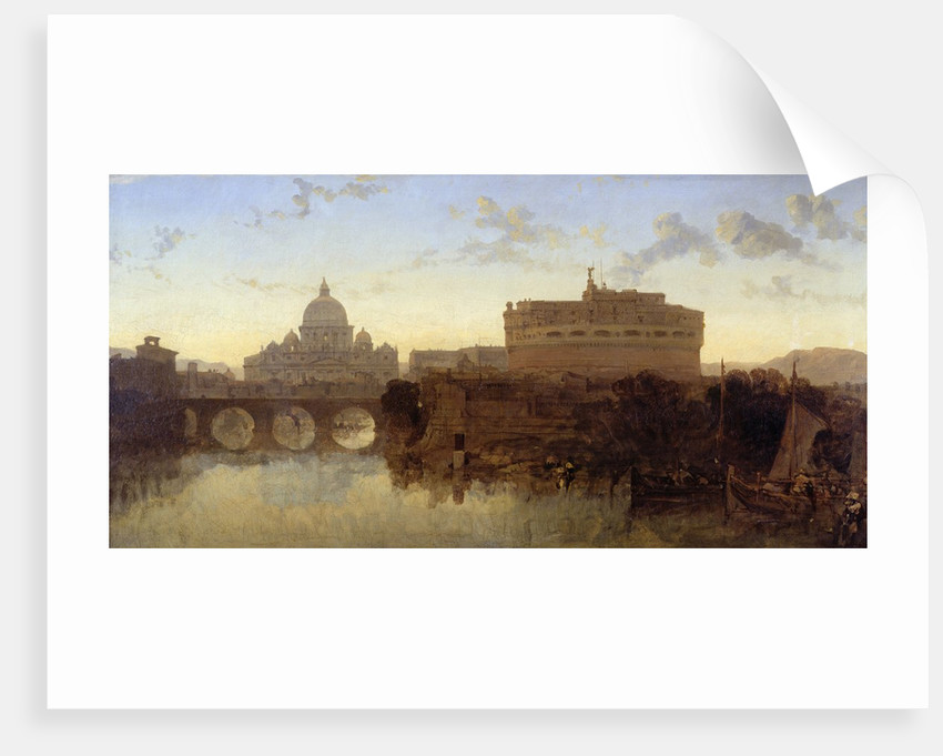 Rome, St Peter's and the Castel St. Angelo by David Roberts