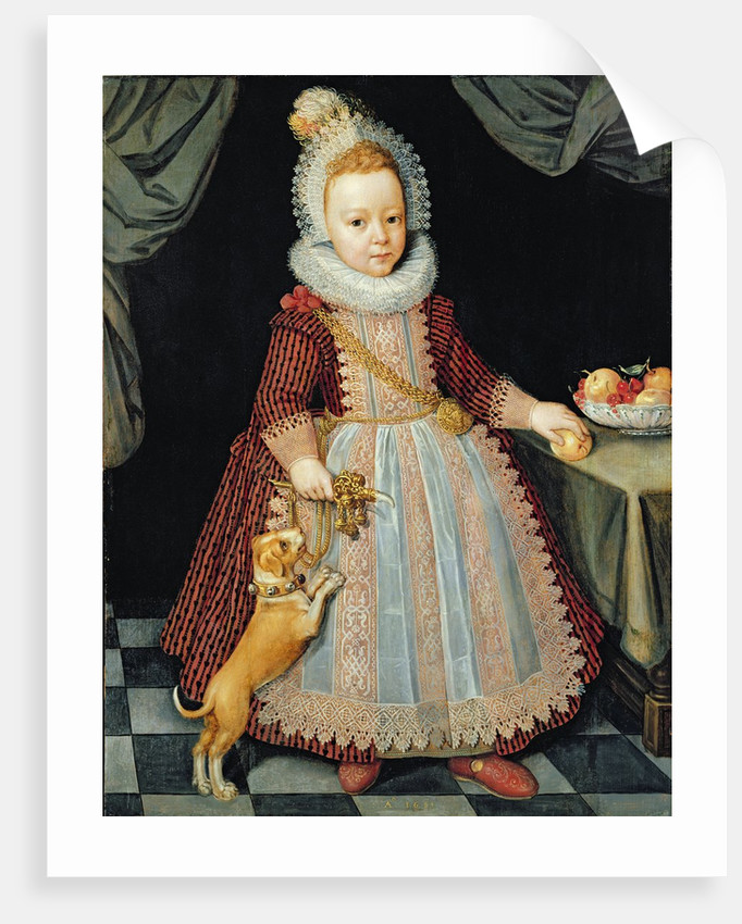 Portrait of a Child with a Rattle, 1611 by Paul van Somer