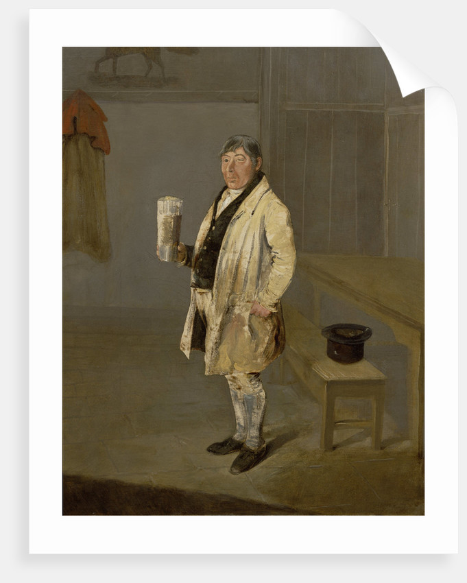 Portrait of a Coachman from Bramham Park, Yorkshire, identified as William Fox, c.1822 by George Garrard