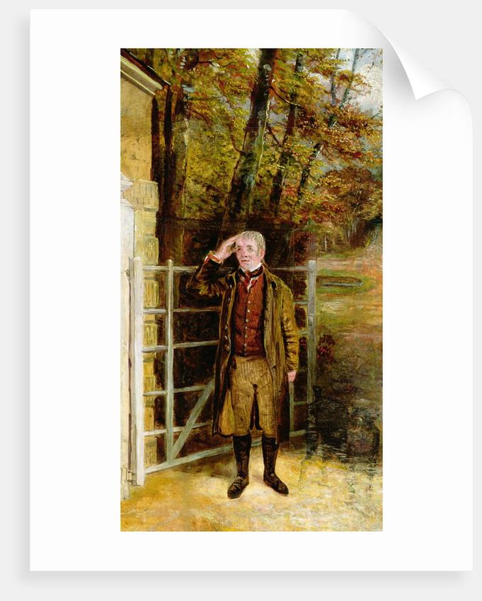 Portrait Sketch of William Wright, Gatekeeper at Bramham Park, Yorkshire, 1822 by George Garrard