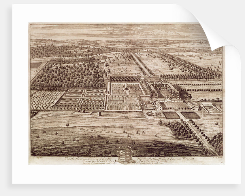 Prospect of Temple Newsam House from the East, engraved by Jan Kip by Leonard Knyff
