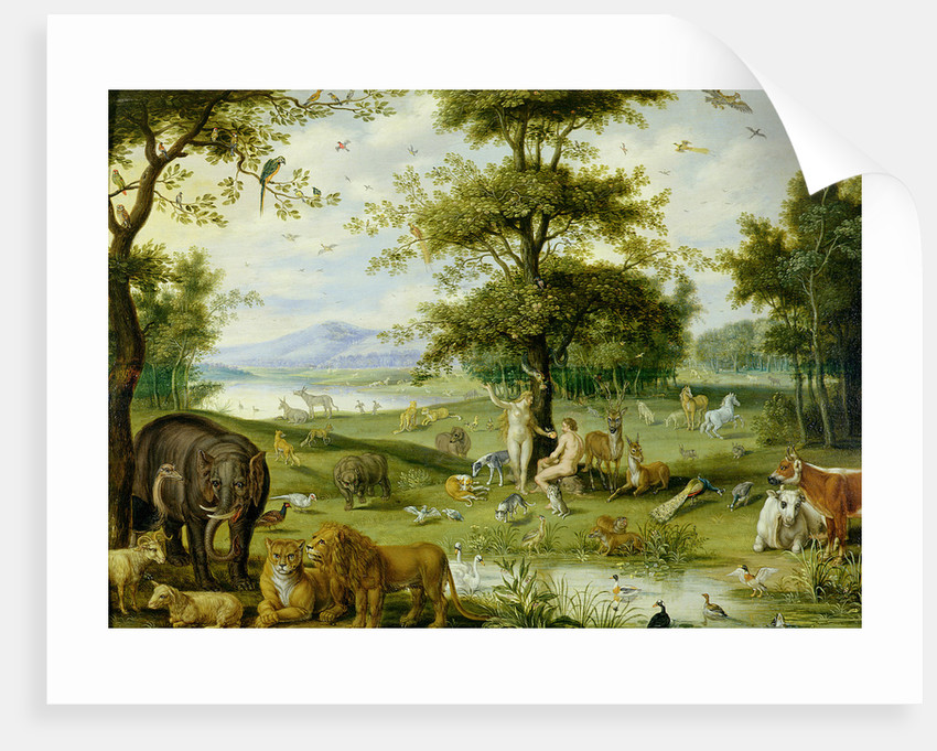 Adam and Eve in the Garden of Eden, c.1600 by Jan Brueghel