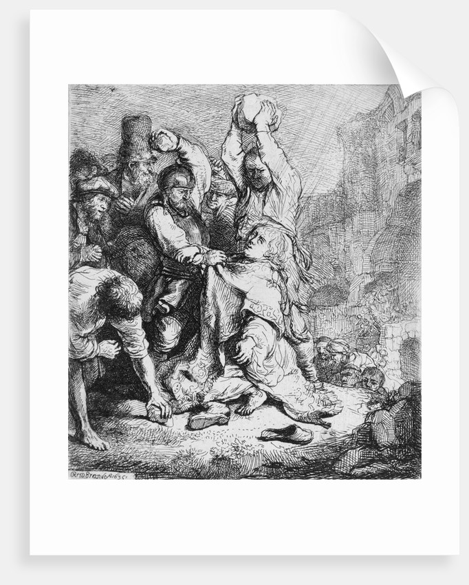 Stoning of St. Stephen by Rembrandt Harmensz. van Rijn
