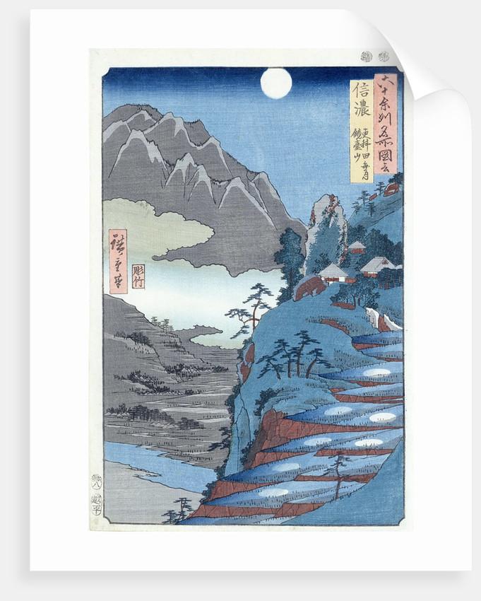 Reflected Moon, Sarashima by Ando or Utagawa Hiroshige