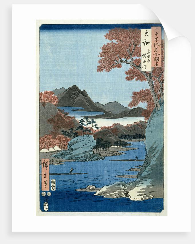 Tatsuta River, Yamato Province by Ando or Utagawa Hiroshige
