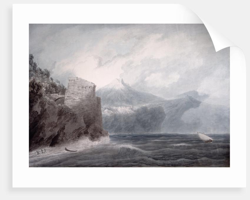 The Castle of Salerno, near Cetara by John Robert Cozens