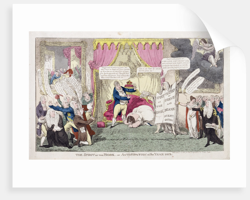 The Spirit of the Book or, Anticipation of the Year 1813, 1813 by George Cruikshank