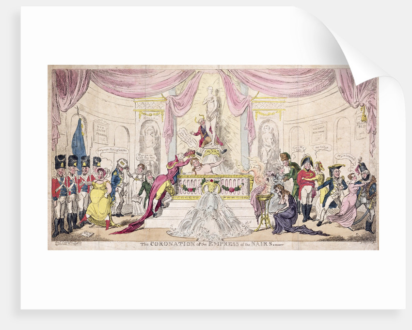 The Coronation of the Empress of the Nairs, 1819 by George Cruikshank