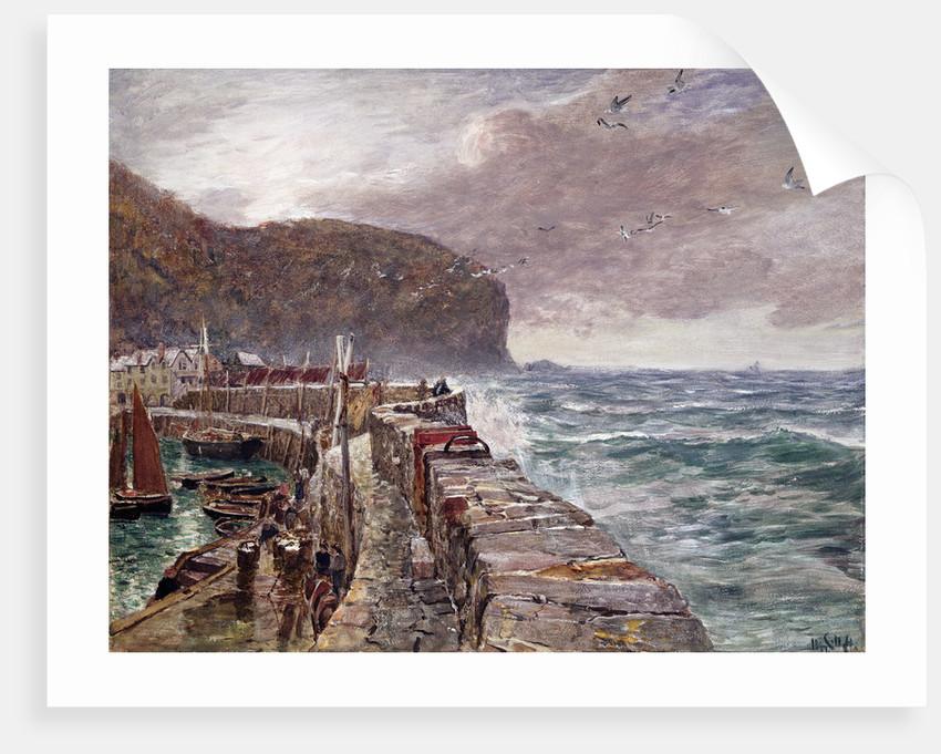 Clovelly Pier, 1897 by Charles Napier Hemy