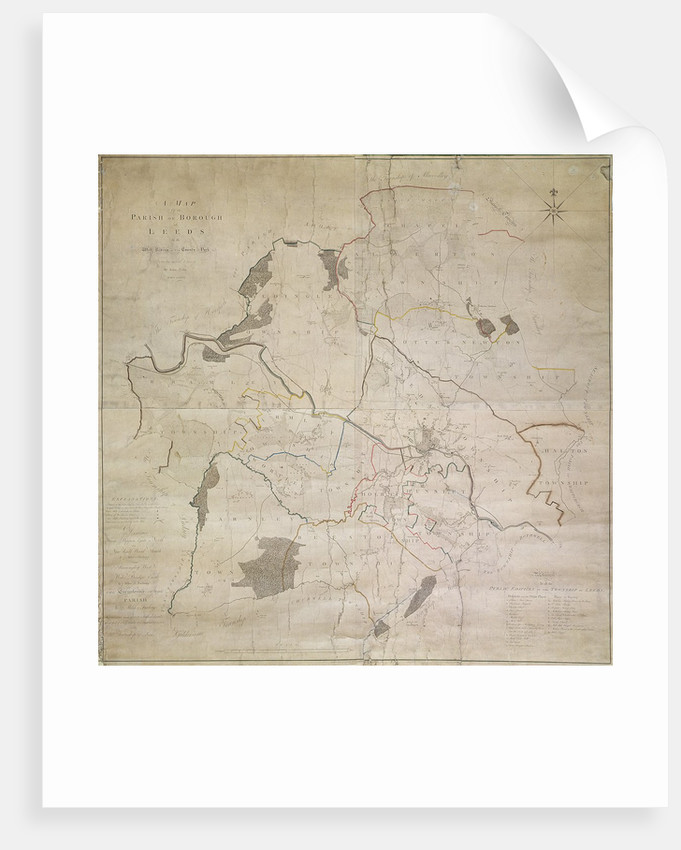 Map of Leeds, surveyed by John Tuke, 1781 by English School