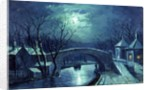 Redcote Bridge, Armley, by moonlight by W. Meegan