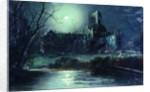 Kirkstall Abbey, by moon light by W. Meegan