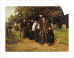 I am the Resurrection and the Life, or The Village Funeral, 1872 by Frank Holl