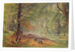 Charcoal Burners in Rokeby Park by Alfred William Hunt