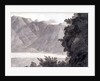 Head of Lake Geneva, pen & ink & wash on paper by Francis Towne
