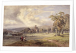 View of Kirkstall Abbey, Leeds, 1860 by George Arthur Fripp